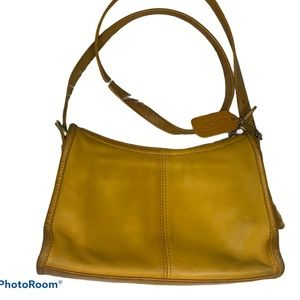 Coach Yellow Leather Satchel Marigold